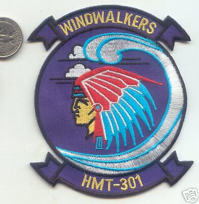 USMC Helicopter WINDWALKERS HMT-301 Squadron PATCH pictures Indian Chief
