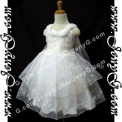 SPW7 Baby Girls Christening Baptism First Holy Communion Church Prom Gown Dress