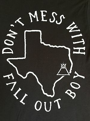 Fall Out Boy Don't Mess With Texas Extra Small Black Concert Tour Shirt