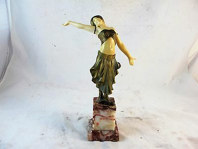 Art Deco Cold Painted Bronze Of A Dancer  By Louis Sosson, Signed C1920's