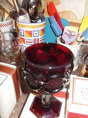 2 AVON CAPE COD Collection Ruby Red LARGE Water Wine Goblets