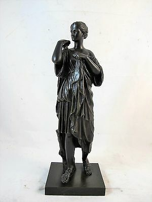 French Bronze Of A Neo Classical Woman C1860'S Original Patina