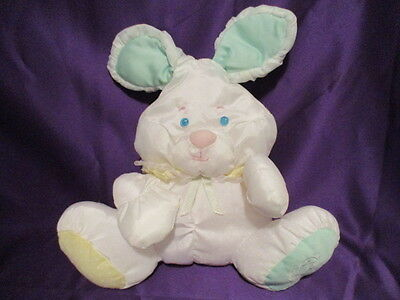 Fisher Price Puffalumps Bunny Rabbit Rattle 1988 Foot Logo 12""
