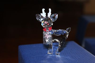 Authentic Swarovski Christmas Baby Reindeer Crystal Figurine 500424  New In Box