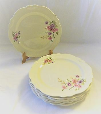 Homer Laughlin -- Virginia Rose -  (7) 10 1/4 Dinner Plates - C49N8