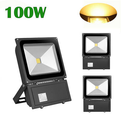 100W PIR Motion Sensor LED Flood Light Warm White Outdoor Security Lamp 240V New