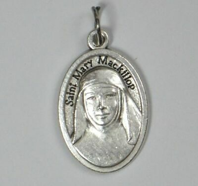 SAINT MARY MACKILLOP, MARY OF THE CROSS Medal Pendant, SILVER TONE, 22mm X 15mm