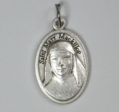 SAINT MARY MACKILLOP, Mary Of The Cross Medal Pendant, Silver Tone, 22 x 15mm