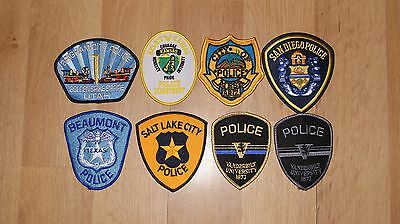 Set of 8 United States Police Patches, USA