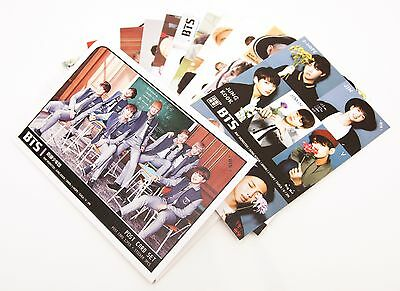 K-pop BTS  Bangtan Boys Postcard Photograph Set With stickers