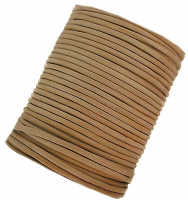 Light Brown leather cord lace 3 mm round