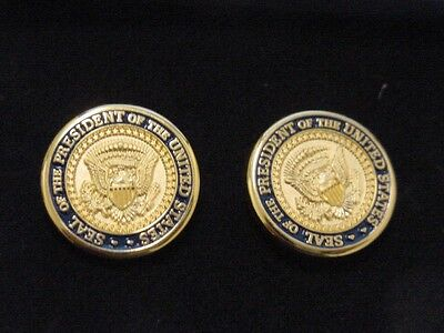 Pair of  presidential Jimmy Carter cufflinks - diecast