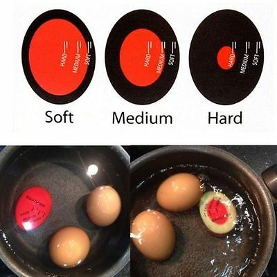 Egg Perfect Color Changing Timer Yummy  Boiled Eggs + Spring Wire Egg Cup O9