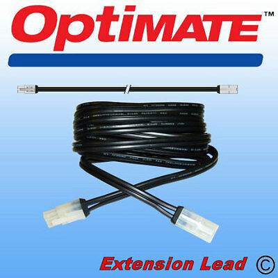 Optimate 3 4 Accumate Motorcycle Battery Charger Extension Lead TM73 2.5m 8ft