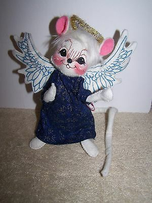 Annalee '98 Angel Mouse With Blue Robe/dress And Halo