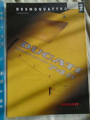 Ducati 748 Desmoquattro motorcycle brochure c1994 German & English text