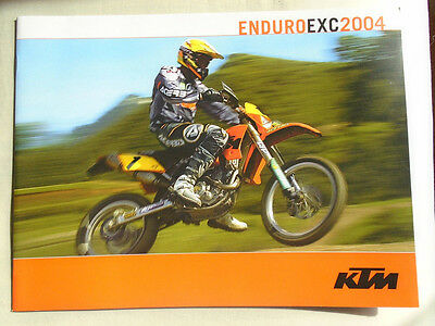 KTM Enduro EXC motorcycle brochure 2004 English text