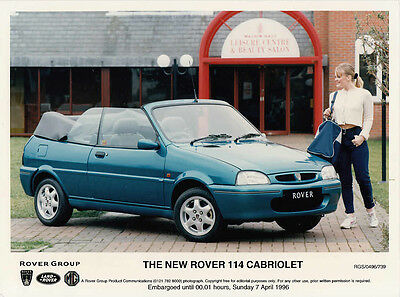The New Rover 114 Cabriolet (Metro) Colour Period Photograph.