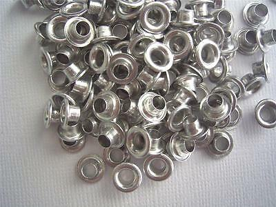 "3/16"" Large Eyelets SILVER pk of 50 round scrapbooking craft eyelet"