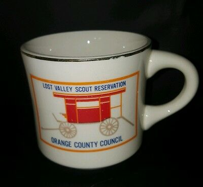 Vtg BSA Lost Valley Scout Reservation Orange County Council Boy Scout Coffee Cup