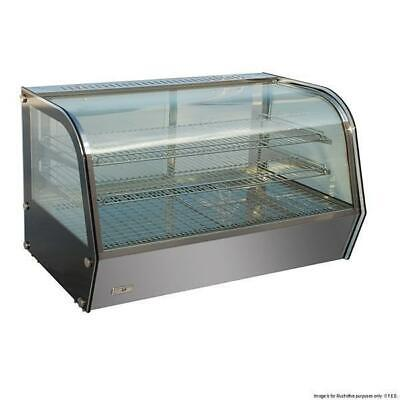 Hot Food Countertop Display Unit, Heated Curved Cabinet 120L, 678x568x670mm