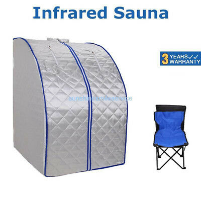 Portable FIR/FAR Infrared Sauna Slimming Room Full Body Lose Weight w/Chair