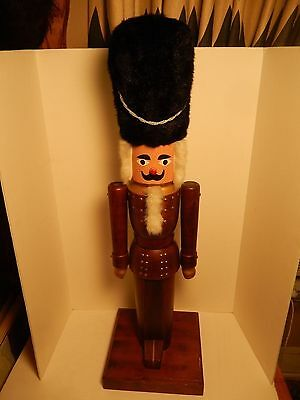 "Vintage Large 39"" Nutcracker Toy Soldier Guard Christmas Display Germany"