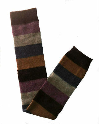 Striped Wool Leg Warmer Boot Socks 1602