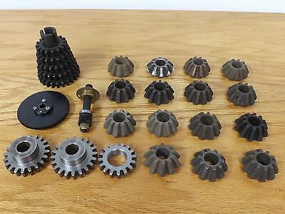 Lot of 21 Industrial Machine Age Steel Beveled and Stainless Gears Steampunk Art