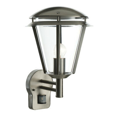 Saxby 49945 Inova Stainless Steel Outdoor Security Motion Sensor IP44 Wall Light