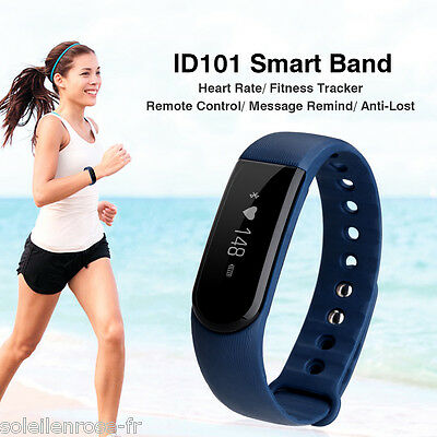 OLED Bluetooth Smart Watch Wristband Bracelet Heart Rate IP67 Fitness Tracker UK