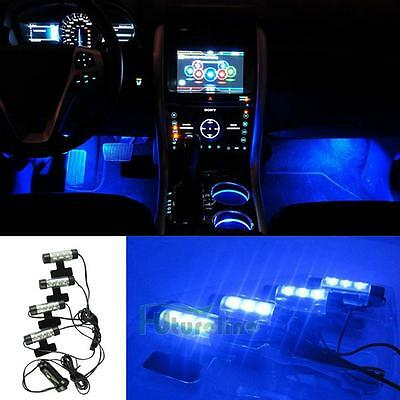 12V 4x3 LED Car Charge Interior Accessories Decorative Atmosphere Lamp Light