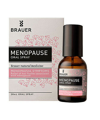 BRAUER Menopause oral spray 20ml homeopathic relief of hot flushes