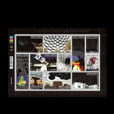 South Africa 2012 South Africa's Role in Astronomy Sheet. MNH