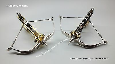 Mini Crossbow Shooting Toy 17LB drawing force Recurve Bow design Terminator 2142