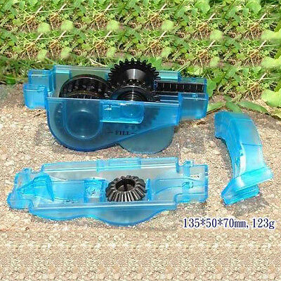 Cycling Bike Chain Wheel Wash Cleaner Bicycle Scrubber Tools Set Kit Blue New