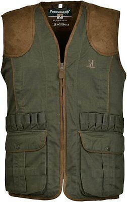 1215 Percussion Quality Shooting Waistcoat Gilet Hunting Vest Lined Game Pocket