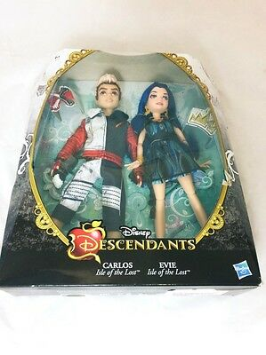 Disney Descendants Evie Isle of The Lost and Carlos Dolls