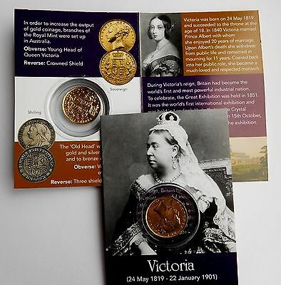 Queen Victoria Reproduction Gold Sovereign Coin Pack And Info Card  Freepost