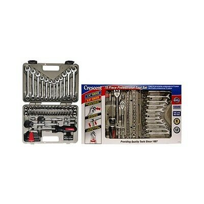 Crescent Tools CTK70MP 70 Piece Socket and Tool Set with Hard Case and Wrap