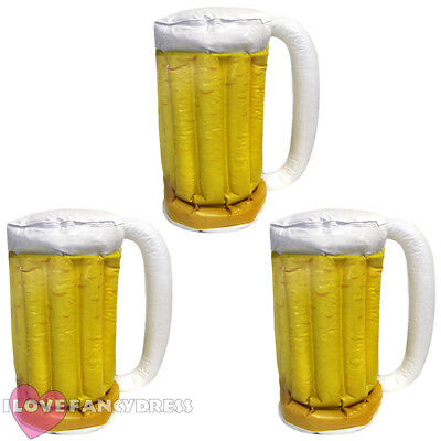 Inflatable Beer Stein Glass Cup Multipack Lot Summer Oktoberfest Stag *Faulty