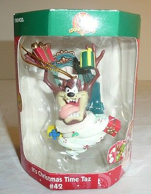 Taz The Tasmanian Devil Holiday Ornament - It's Christmas Time #42 Looney Tunes