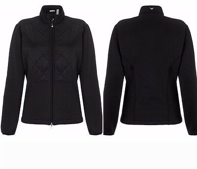 Callaway Tour Ladies Quilted Golf Jacket Opti-Therm Lightweight Medium Black