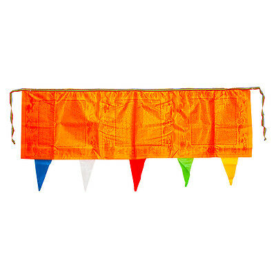 65 Inch Brocade Tibetan Wind Horse Flag Golden Yellow Auspicious Peace Sutras