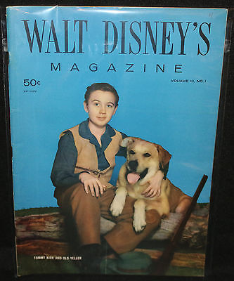 Walt Disney's Magazine Vol 3 #1 - Tommy Kirk and Old Yeller (F+/VF-) 1957