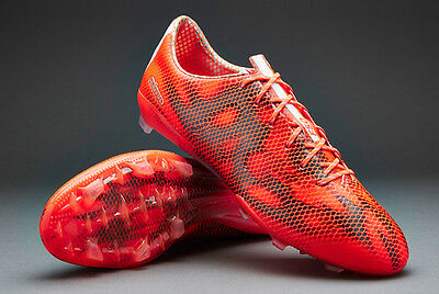 adidas F50 Adizero FG Solar Red Mens Football Soccer Firm Ground Boots Size 6-12