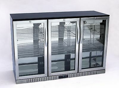 "54"" Wide 3-door Stainless Steel Back Bar Beverage Cooler (Free Shipping)"