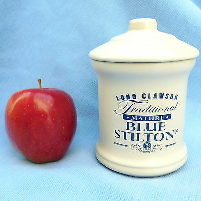 Blue Stilton Jar with lid Long Clawson kitchen cheese storage pot London Pottery