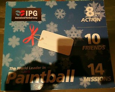 10 IPG Paintball Tickets including 1000 free paintballs, good price Fun Original