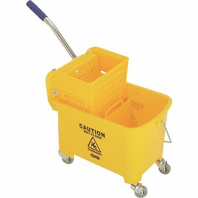 2Y/2021-2Y Yellow Miniature 21QT Mini Compact Mop Bucket W/Ringer